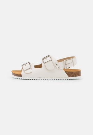 BUCKLE SLINGBACK FOOTBED - Sandals - offwhite