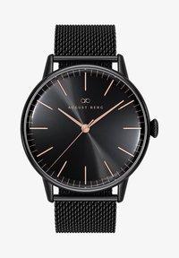 August Berg - UHR SERENITY NOIR BLACK BLACK MESH 40MM - Watch - sunray black - 0