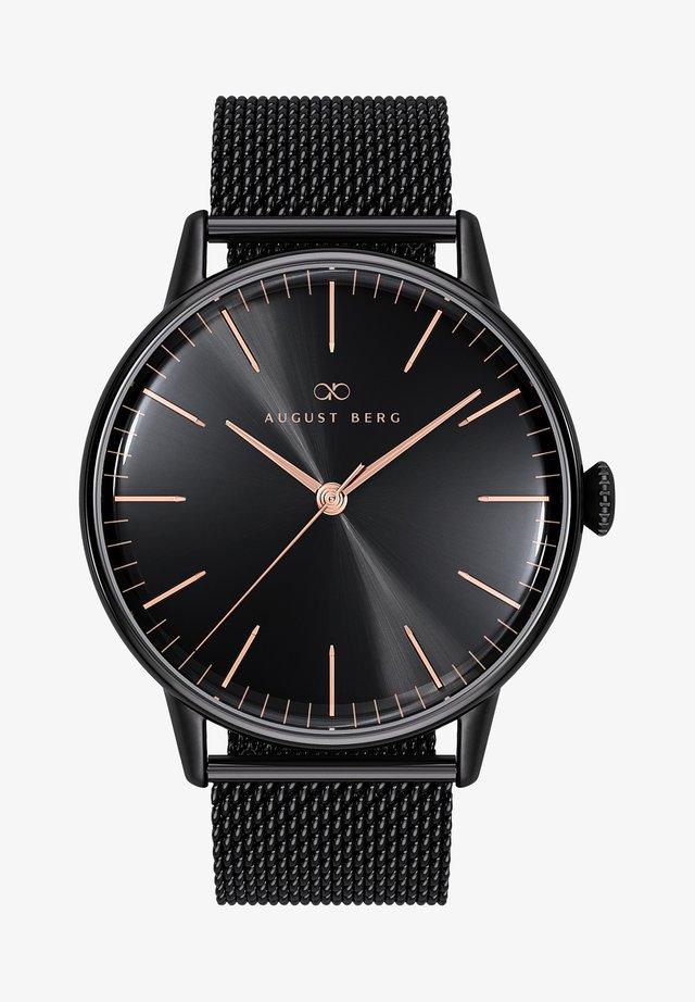 UHR SERENITY NOIR BLACK BLACK MESH 40MM - Horloge - sunray black