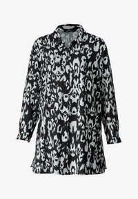 Sara Lindholm by HAPPYsize - Button-down blouse - schwarz off white - 3