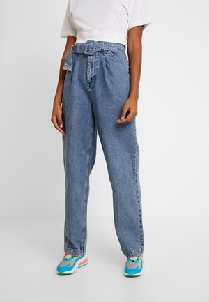 SELF BELT PLEAT - Jeansy Relaxed Fit - denim blue