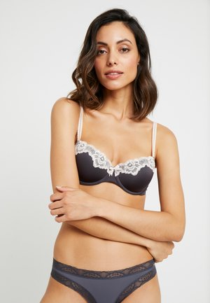 SECRET - Balconette bra - nine iron
