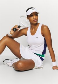 Lacoste Sport - TENNIS TANK - Sports shirt - white/cosmic greenfinch/black - 3
