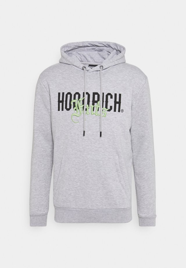 OLD ENGLISH HOODIE - Hoodie - heather grey/volt