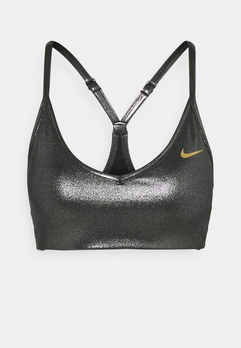 Nike Performance - INDY SHIMMER BRA - Sport BH - black/metallic gold