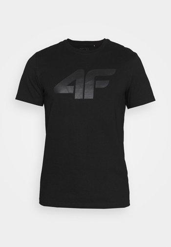 T-shirt con stampa - deep black