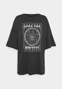 Print T-shirt - anthracite