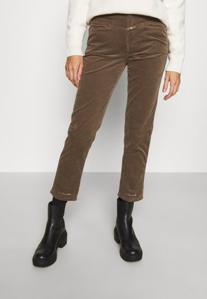 PEDAL PUSHER - Jeans Relaxed Fit - chocolate chip