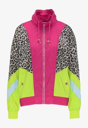 Giacca leggera - pink c.block