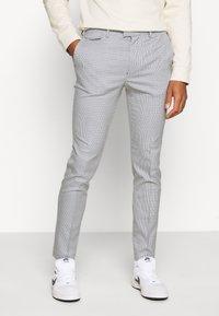 Topman - PUPSTOOTH SKINNY - Trousers - blue - 0
