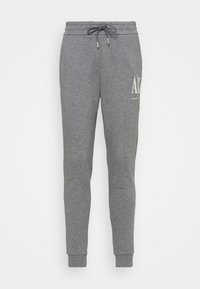 Armani Exchange - PANTALONI - Tracksuit bottoms - grey - 0