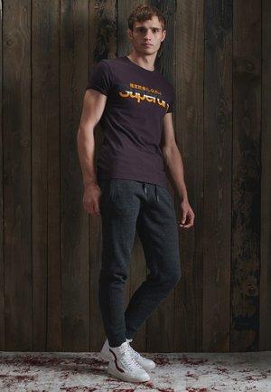 SUPERDRY CORE VINTAGE - T-shirt print - autumn blackberry marl