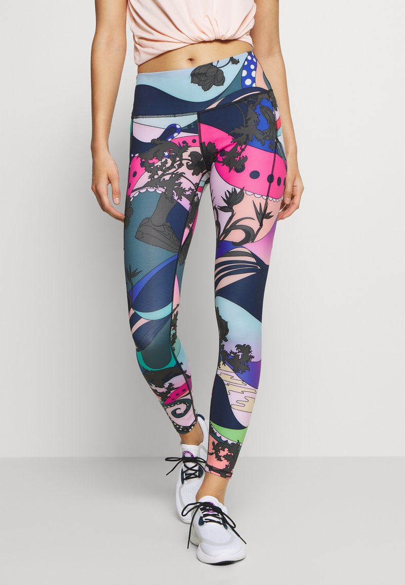 Nike Performance - EPIC LUX - Leggings - hyper pink/black/white