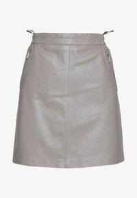 Oakwood - STREET - Leather skirt - mastic - 3
