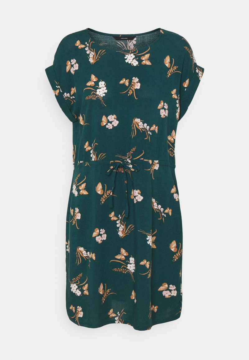 Vero Moda - VMSIMPLY EASY TIE SHORT DRESS - Day dress - sea moss/ann