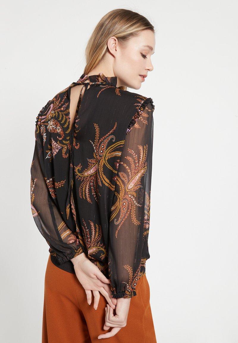 Ana Alcazar BAIBO - Bluse - schwarz k3gMDW