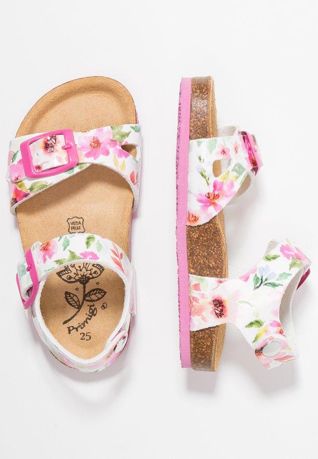 Sandals - bianco/fuxia