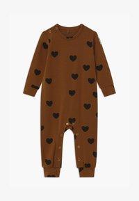 Mini Rodini - BABY HEARTS UNISEX - Jumpsuit - brown - 0