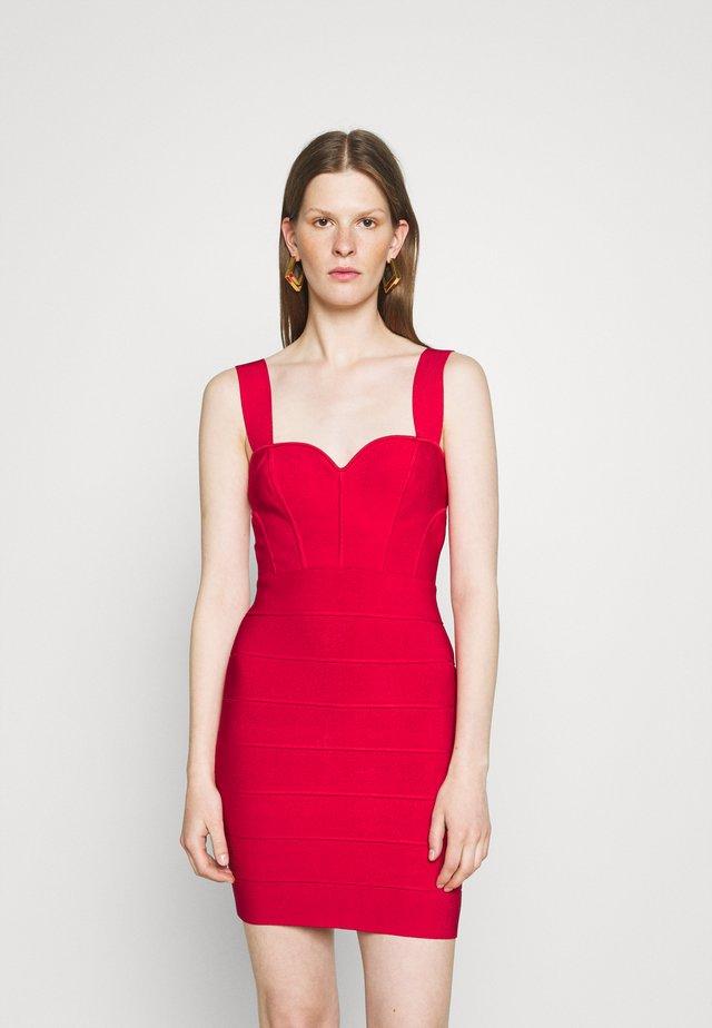 HERVE LEGER X JULIA RESTOIN ROITFELD SWEETHEART CORSET MINI DRESS - Etui-jurk - rio red