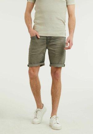 Denim shorts - green