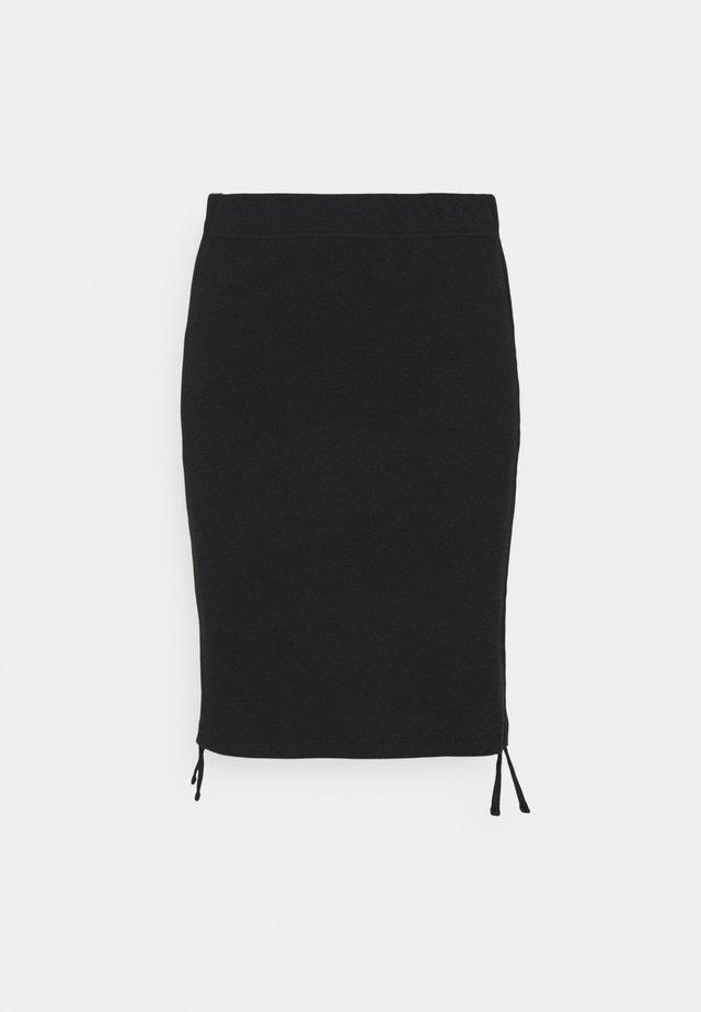 NMSTINE ROUCHING SKIRT - Mini skirts  - black