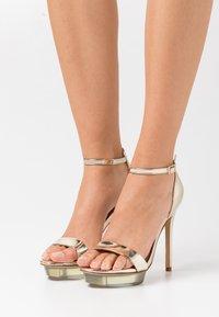 ALDO - FELAWEN - Platform sandals - gold - 0