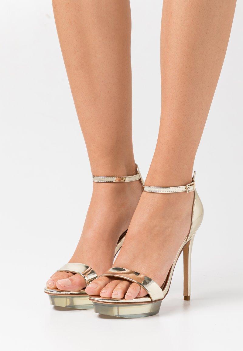 ALDO - FELAWEN - Platform sandals - gold