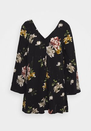 LARGE FLORAL - Blouse - black