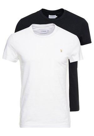 FARRIS TWIN 2 PACK - Basic T-shirt - white/black