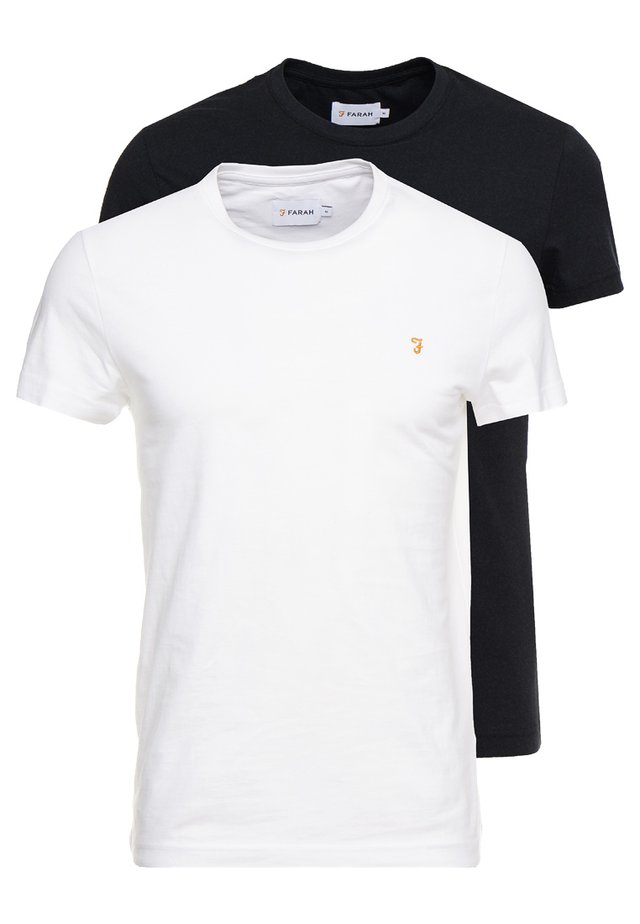 FARRIS TWIN 2 PACK - T-shirt basique - white/black