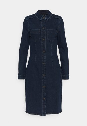 VMGRACE SLIM BUT DRESS - Denim dress - dark blue denim