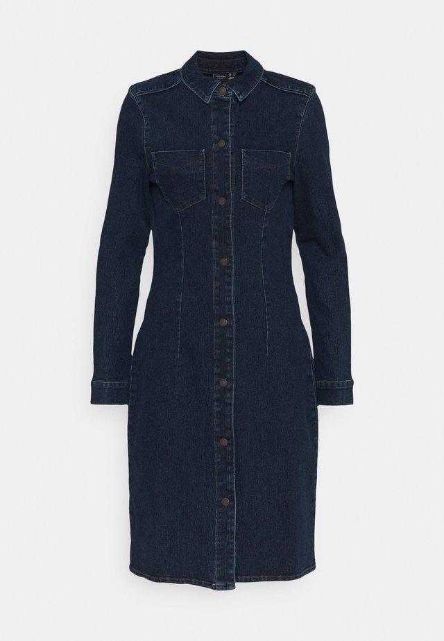 VMGRACE SLIM BUT DRESS - Vestido vaquero - dark blue denim