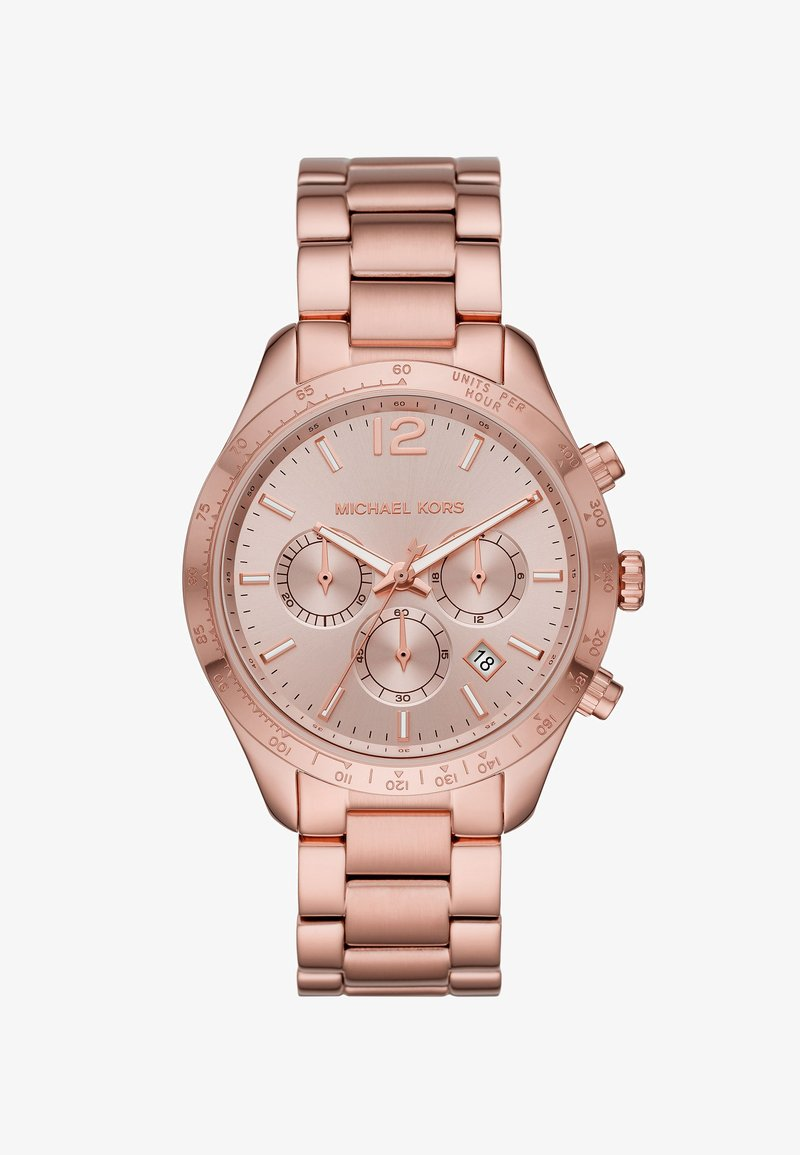 Michael Kors - LAYTON - Chronograph watch - rose gold coloured