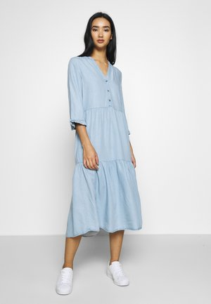 NMENDI LONG DRESS - Shirt dress - light blue