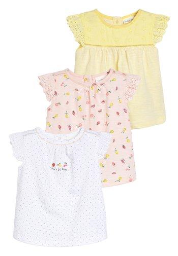 3 PACK FRUIT PRINT T-SHIRTS - Print T-shirt - white