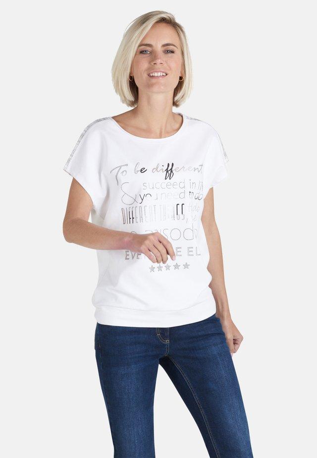 Print T-shirt - rohweiß