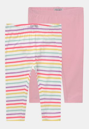 SMALL GIRLS  2 PACK - Leggings - Trousers - optical white