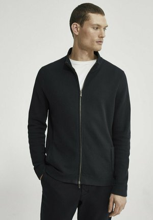 Strickjacke - blue-black denim