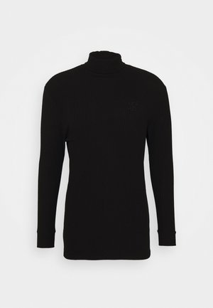 LONG SLEEVE BRUSHED TURTLE NECK - Sweter - black