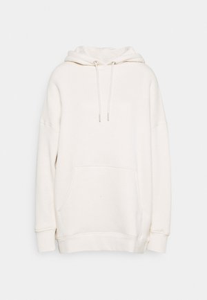 LONG SLEEVE HOODY - Mikina s kapucí - raw cream