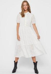 Vero Moda - STICKEREI - Maxi dress - snow white - 0