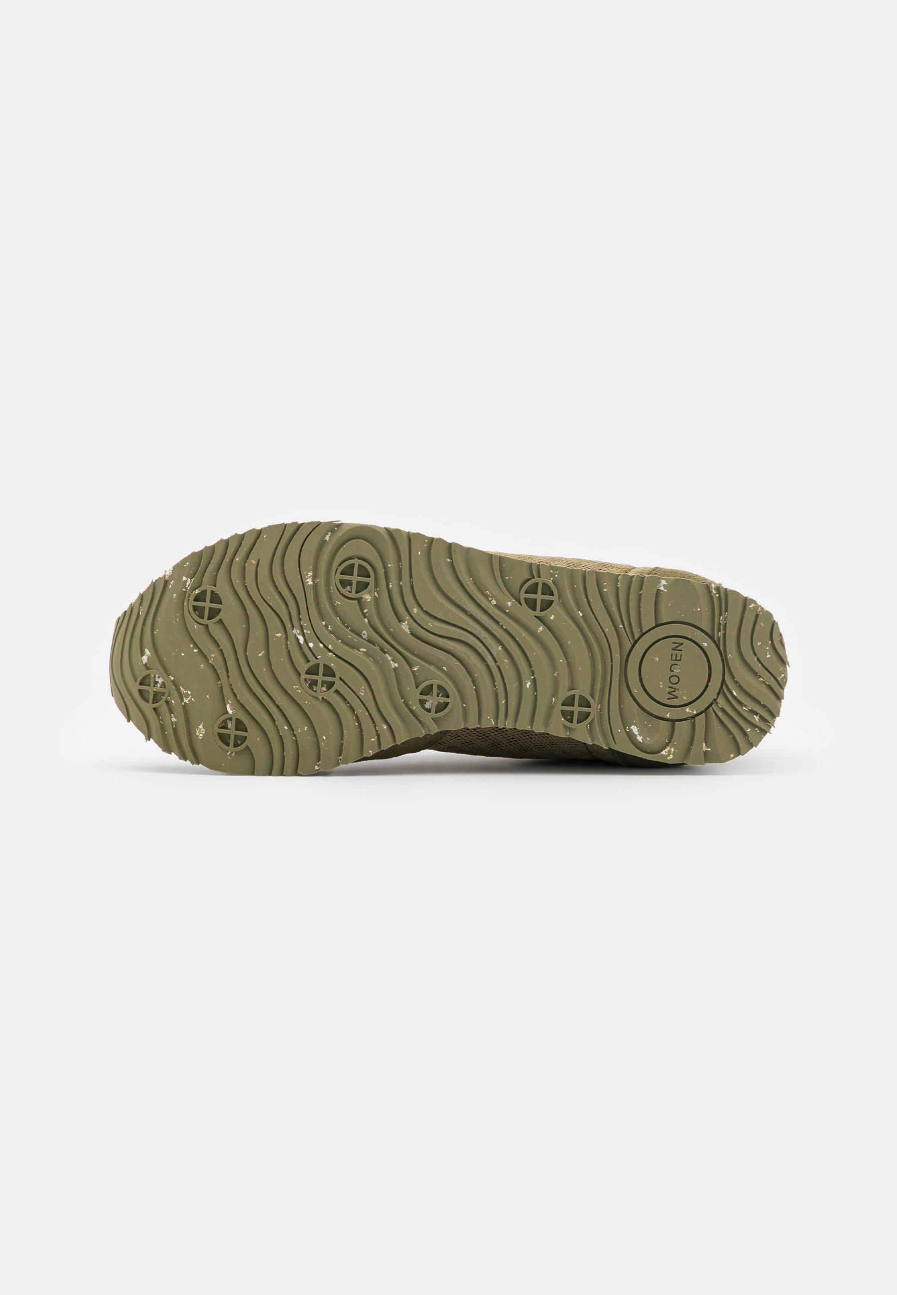 Woden YDUN SUEDE MESH II - Trainers - lizard green Women's Skate Shoes E7WON