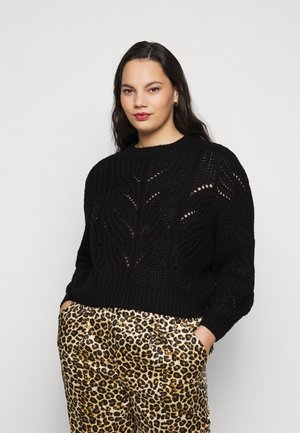 PCRACHEL O NECK - Jumper - black
