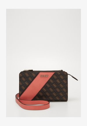 CAMY DOUBLE ZIP CROSSBODY - Olkalaukku - brown multi