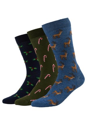 3 PACK - Socks - blue/green
