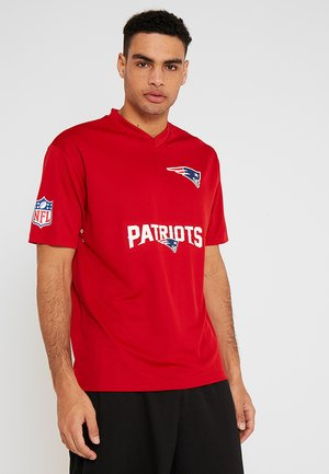 NFL NEW ENGLAND PATRIOTS WORDMARK TEE - T-shirt med print - red