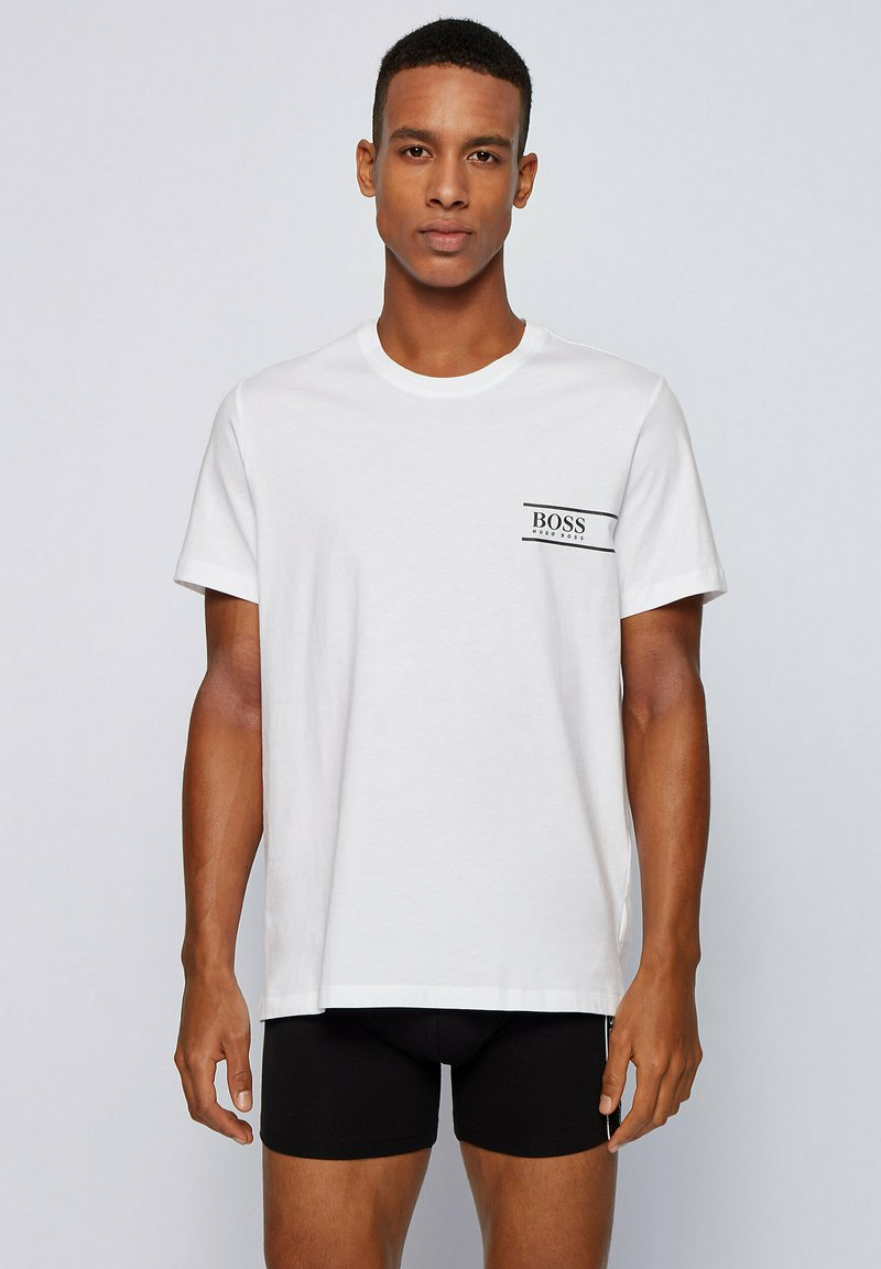 BOSS - T-shirt con stampa - white