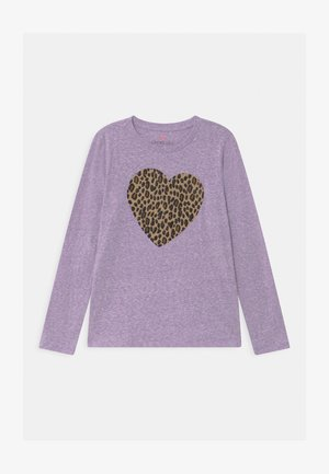 LEOPARD HEART GRAPHIC  - Long sleeved top - mottled lilac