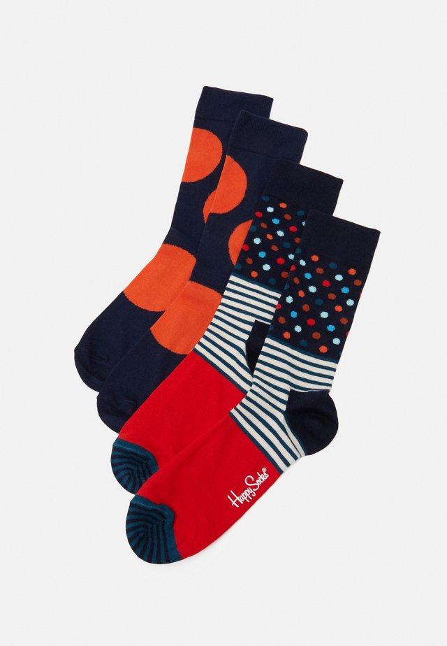 STRIPES AND DOTS JUMBO DOT 2 PACK - Ponožky - dark blue