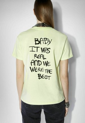 T-shirt con stampa - lime cream